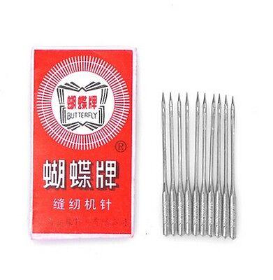 10PCS Home Sewing Machine Threading Needles 65/9 90/14 100/16 110/18 120/20
