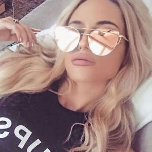 Women-Mirrored-Lenses-Designer-Sports-Retro-Vintage-Cat-Eye-Oversized-Sunglasses