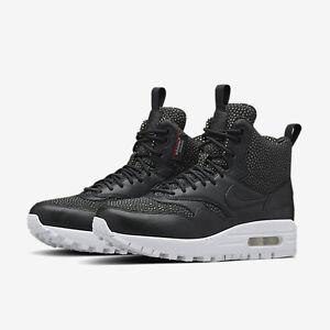 5 001 Sneakerboot 826601 Tech blanco negro para tallas Air Max 1 mujer 7 Nike Nib w8fq7Bc