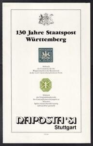 WURTTEMBERG-Sonderdruck-1-Kreuzer-NAPOSTA-STUTTGART-1981-ansehen-R300-115-3