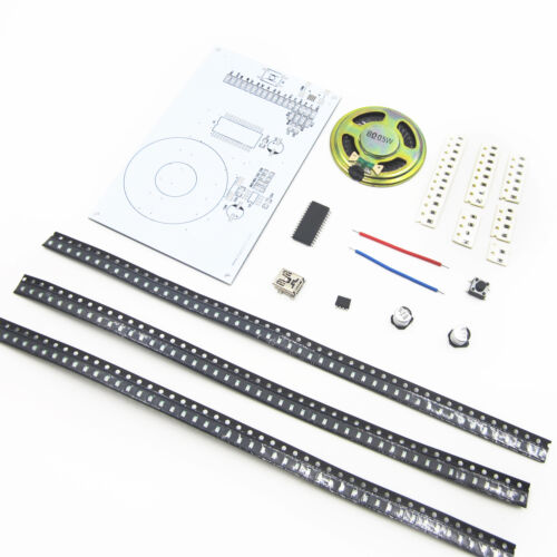 DIY Kit Red Green Blue LED Indicator Frequency Voice Control DIY FFT 8x8