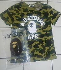 Men's Bape A Bathing Ape T-Shirt Green Camo Size Xl