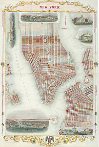 Map Of New York 1850.Details About 1850 New York Map Brooklyn Williamsburg Home School Wall Poster Vintage History