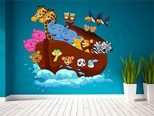 Image Is Loading Noahs Ark Animals Kids Wall Art Sticker Decal