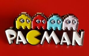 Pacman-Pin-Retro-Gamer-Gift-Enamel-Metal-Brooch-Badge-Lapel
