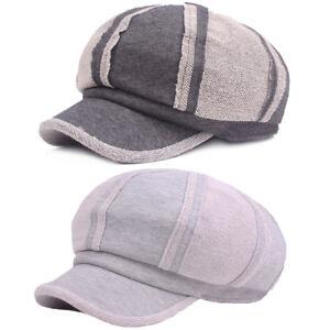 cb8f2fc22a1 Unisex Men Women Cotton Gatsby Newsboy Hat High Quality Cabbie ...