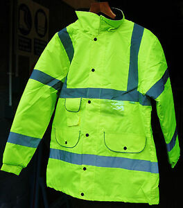 Hi Vis Superior Parka Jacket Yellow EN471 Class 3 with 5x pockets