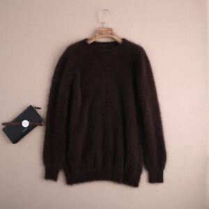 New-Men-039-s-Mink-cashmere-Fleece-Warm-Sweaters-Free-Delivery-S18128