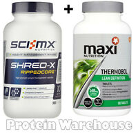 Maxinutrition Thermobol 90 Tabs Slimming Pills + Sci Mx Shred X 100 Capsules
