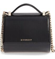 New GIVENCHY Pandora Box Shoulder textured leather bag $2250 Black
