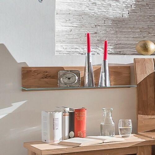 TORONTO Wandboard-Set Asteiche 60 cm mit Glasboden