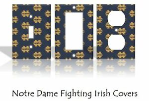 Image Is Loading Notre Dame Fighting Irish Light Switch Covers Football