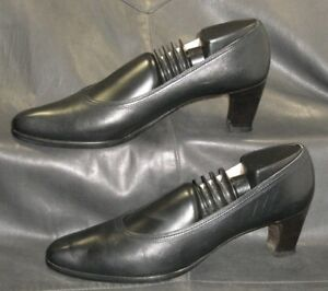 Cole-Haan-black-leather-closed-toe-pumps-heels-Women-039-s-shoes-size-8-AAAA