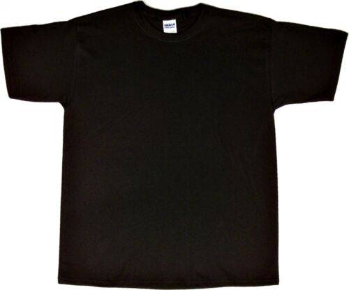 nEW Gildan Mens Ultra Cotton Short Sleeve Tee T-Shirt Black 5XL 01675