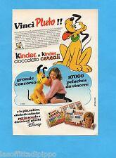 TOP989-PUBBLICITA'/ADVERTISING-1989- FERRERO - KINDER CEREALI VINCI PLUTO