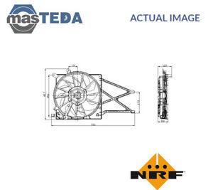 NRF ENGINE COOLING RADIATOR FAN 47015 P NEW OE REPLACEMENT