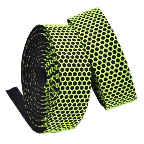 2xCycling Handlebar Bar Plugs Tape Road Bike Bicycle Cork Handle Wrap Belt Strap