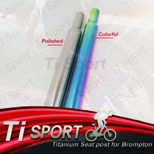 Ti Sport Titanium GR9 Colortful Seatpost Seat Post For BROMPTON