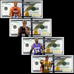 COLLECTION-4-BILLETS-POLYMER-034-ARGENT-034-1000000-DOLLARS-KOBE-BRYANT-NBA
