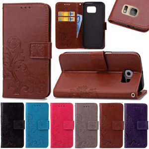 For-Samsung-Galaxy-Luxury-Magnetic-Card-Wallet-Clover-Stand-Leather-Case-Skin