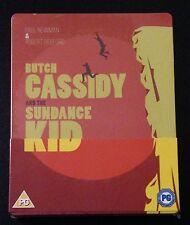 BUTCH CASSIDY AND THE SUNDANCE KID Blu-Ray SteelBook UK Region ABC OOP Rare DING