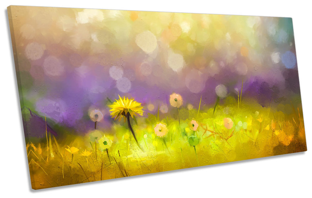 Majestic Floral Field Flowers PANORAMIC CANVAS Wand KunstWORK Drucken Kunst