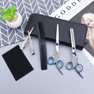 Professionell-Friseur-Haarschere-Set-Haare-Schneiden-Modellier-Scheren-Etui