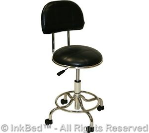 New Inkbed Tattoo Footrest Backrest Client Stool Ink Bed