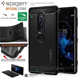 best service 989e9 0aa86 Details about Sony Xperia XZ2 Premium Case Genuine SPIGEN Rugged Armor  Resilient Soft Cover