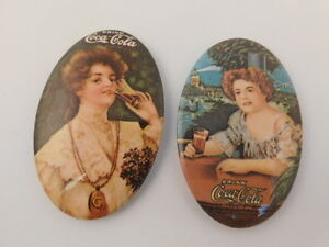 Two Vintage Coca Cola Advertising Pocket Mirrors Soda Pop