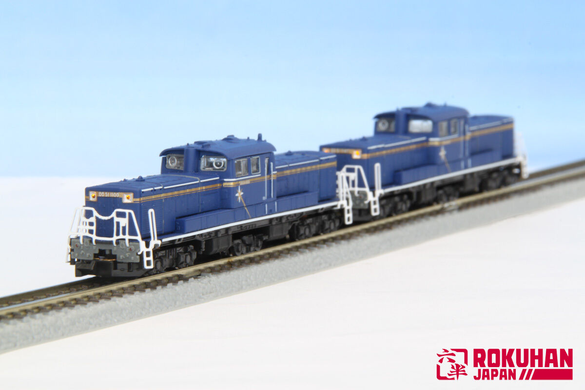 Rokuhan T002-8 Loco DD51 1000 A Cold District Hokutosei Double Heading set - Z