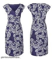 BN LADIES WHITE STUFF BLUE LENA SUMMER FLORAL TEA DRESS TUNIC SIZE 8-18