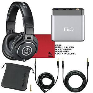 Audio-Technica-M40X-Studio-Monitor-Headphones-amp-FiiO-A1-Portable-Headphone-Amp