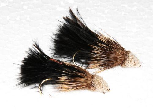 Muddler Minnow Black Tail Streamers  Hand Tied Salmon /& Sea Trout Flies Quality