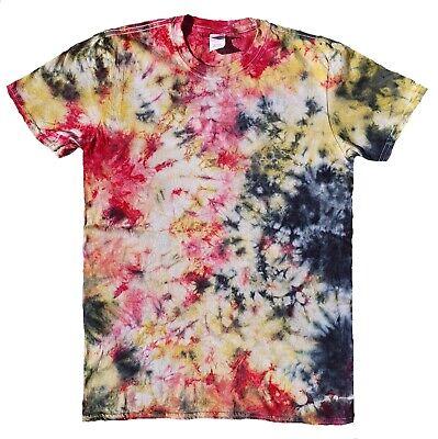 TIE DYE T SHIRT Top Hipster Fashion Tye Die Tshirt Festival Red Black Rainbow