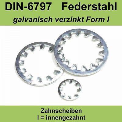 8,4 DIN 6797 verzinkte Zahnscheiben Form I innengezahnte Federstahl f M8 J AZ M