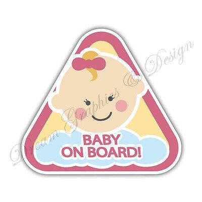 Baby on Board Child Full Color Adhesive Vinyl Sticker Window Car Bumper #058