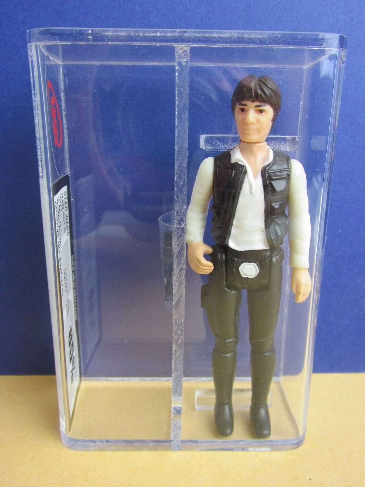 Star wars HAN SOLO ACTION FIGURE UKG not AFA vintage original 85% 1977 first 12