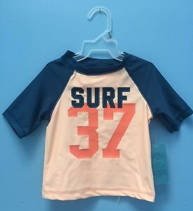 NWT-Old-Navy-Baby-Boy-Rashguard-0-3-3-6-or-18-24-Month-034-Surf-37-034-UPF-50-Swim