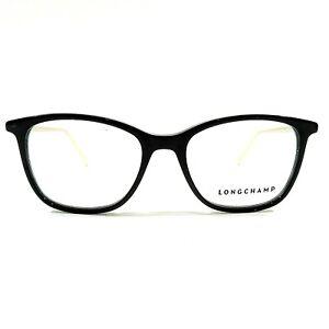 7b8abba978 New LONGCHAMP Optical Eyeglasses RX Frame LO2606 001 Black Gold 51 ...