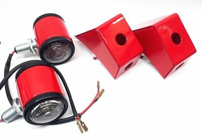 Massey Ferguson 35,35X,65,Tractors Butler Style Rear Lamps /& Brackets Pair