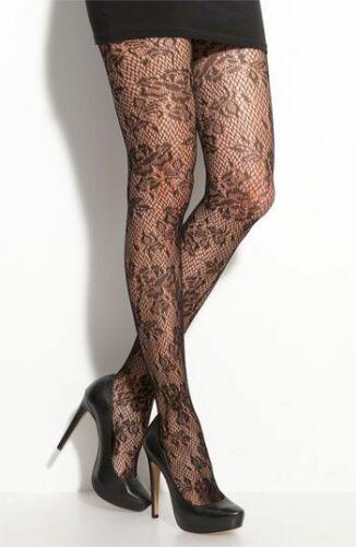 948 fishnet tights floral lace rose pattern black goth emo grunge