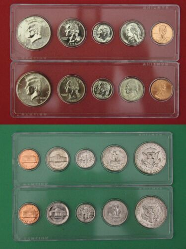 1991 P D S Proof /& Mint Sets In Snap Tight Display Cases Combined Shipping