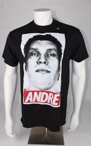 Umnd-Andre-der-Giant-Icon-T-Shirt-Herren-schwarz-WWE-WWF-Wrestling-Tee