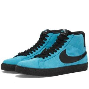 Nike SB Zoom Blazer alta invertito Nero Blu UK 9 US 10 Force 1 Basso Dunk Mid OG
