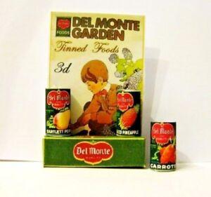 Bien Style Vintage Aliments En Conserve Affiche Maison De Poupées Miniature-afficher Le Titre D'origine