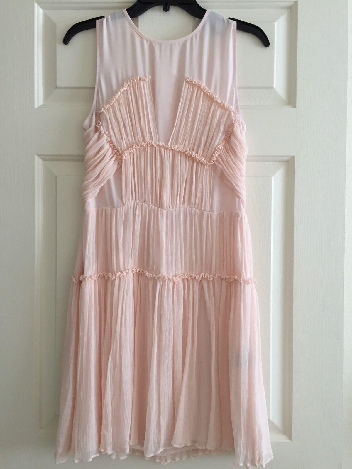 Cynthia Steffe Silk Dress Pale Pink Size 6 6 6 New e90900