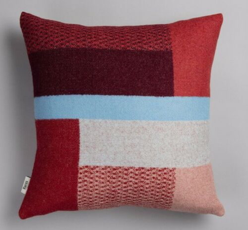 "NEW Roros Tweed 100/% Norwegian Fine Wool /""MIKKEL/' Reversible Pillow Cushion"