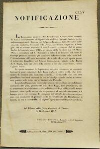 1847-FIRENZE-NOTIFICAZIONE-PER-ARRUOLAMENTO-DEI-GIOVANI-FIORENTINI
