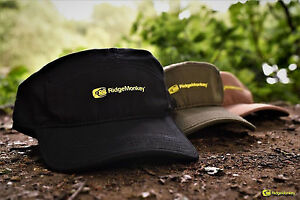 Ridge-Monkey-5-Panel-Cap-Hat-Marrone-Verde-Nero-ridgemonkey-pesca-della-carpa
